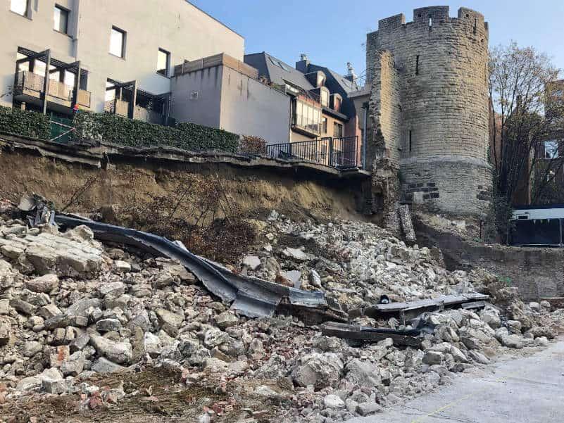 Schade expert ingestorte muren gebouwen