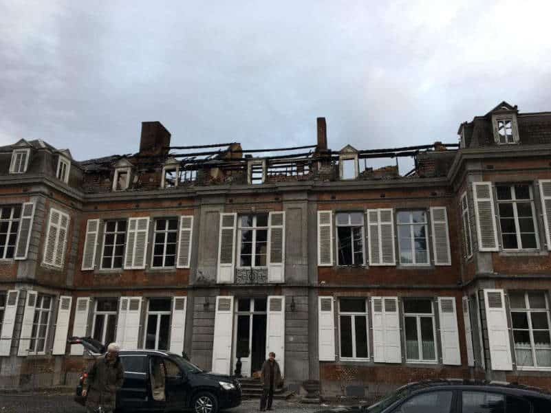 Damage experts investigation cause fire